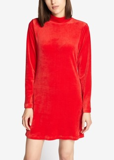 Sanctuary Endless Night Velour Shirt Dress