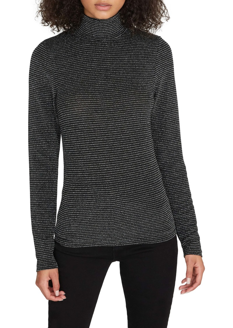 Sanctuary Essential Metallic Stripe Turtleneck