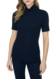 Sanctuary Essential Ribbed Mock Neck Top (Regular & Petite)
