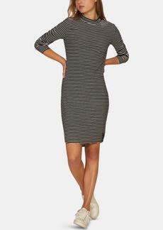 Sanctuary Essentials Stripe Mock-Neck Dress