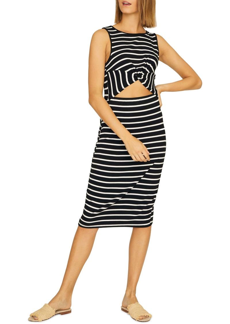 Sanctuary Essentials Stripe Cutout Detail Dress