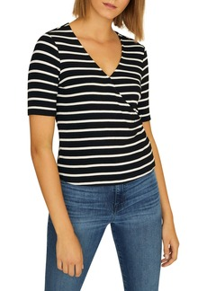 Sanctuary Essentials Stripe Wrap Front Top