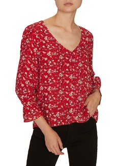Sanctuary Farrah Floral Button-Up Blouse (Regular & Petite)