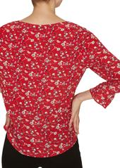 Sanctuary Farrah Floral Button-Up Blouse (Regular & Petite)
