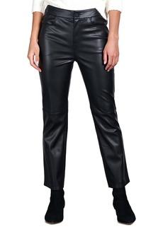 Sanctuary Faux Leather Kick Crop Pants