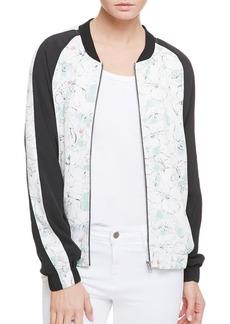 Sanctuary Floral-Paneled Bomber Jacket