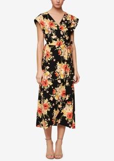 Sanctuary Floral-Print Wrap Midi Dress