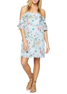 Sanctuary Floral Ruffle Cold Shoulder Dress