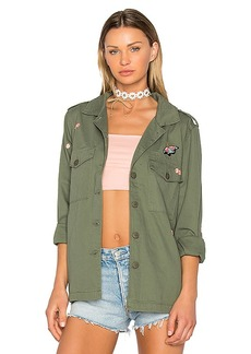 Sanctuary Flower Field Jacket in Army. - size L (also in XS,S,M)