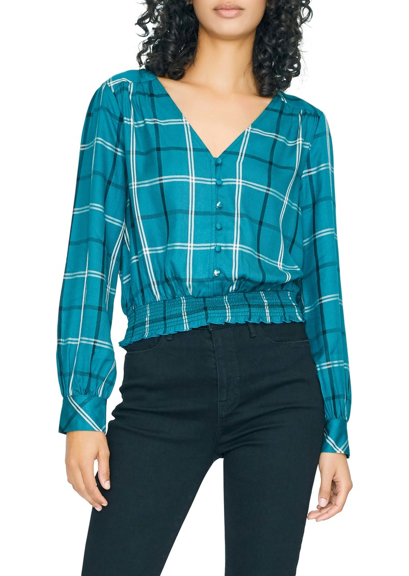 Sanctuary Fool For You Plaid Smock Waist Blouse (Regular & Petite)