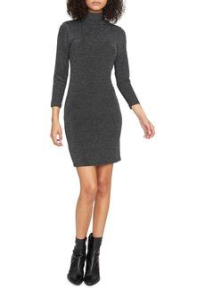 Sanctuary Forget Me Not Metallic Stripe Turtleneck Sweater Dress (Regular & Petite)