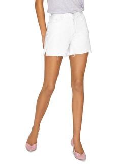Sanctuary Frayed-Hem Denim Shorts in Angeleno White