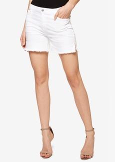 Sanctuary Frayed White Wash Denim Shorts