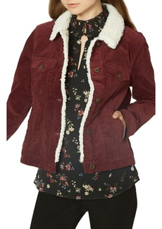 Sanctuary Freedom Fuzzy Corduroy Trucker Jacket (Regular & Petite)