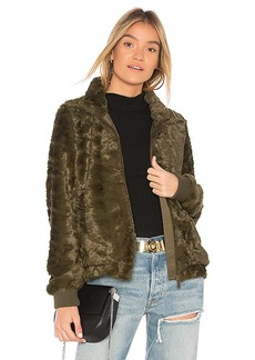 Sanctuary Furry Chubby Faux Fur Bomber in Green. - size XS (also in M,S)