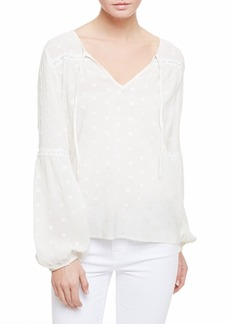 Sanctuary Gabby Eyelet Embroidery Peasant Blouse