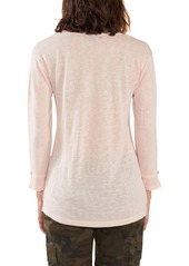 Sanctuary Gina Long Sleeve Mixed Media Tee (Regular & Petite)