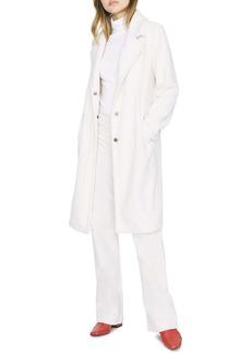 Sanctuary Go Long Faux Fur Teddy Coat (Regular & Petite)