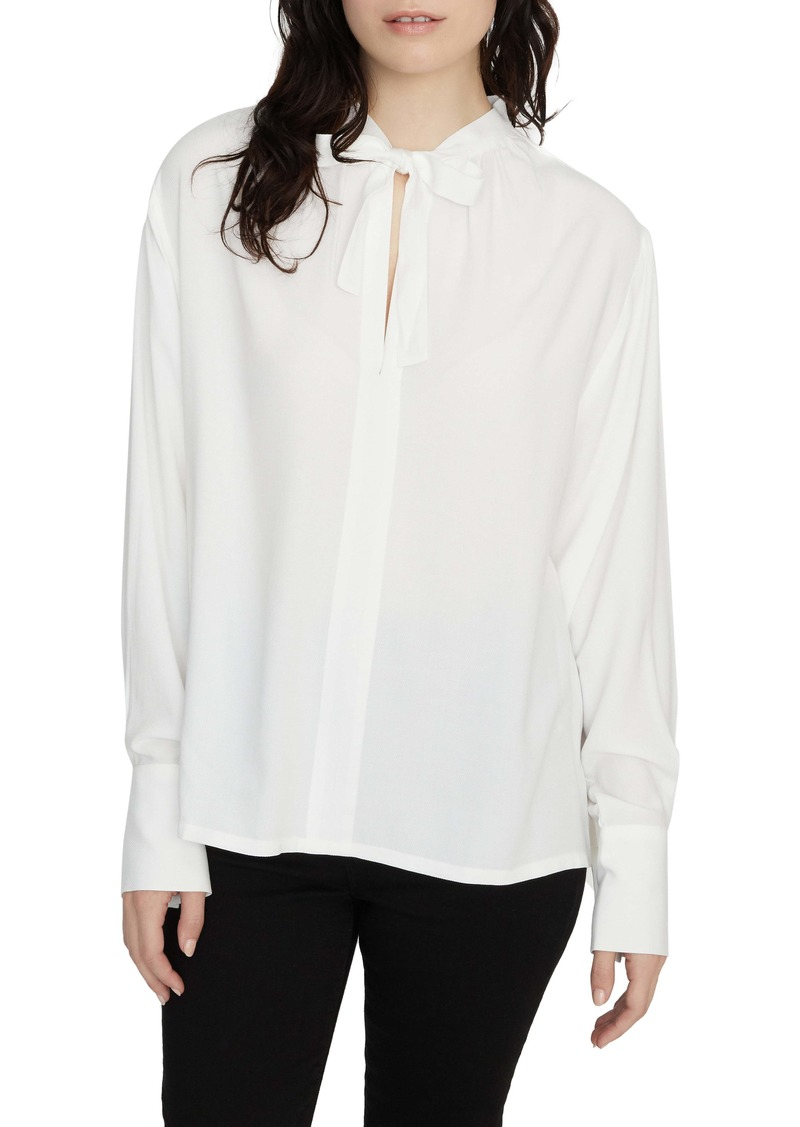 Sanctuary Golden Hour Tie Neck Blouse