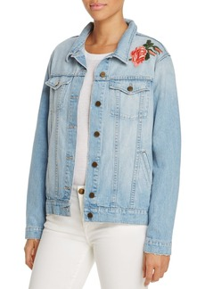 Sanctuary Guilty Pleasure Embroidered Denim Jacket - 100% Exclusive