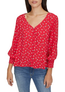 Sanctuary Harmony Balloon Sleeve Floral Top (Regular & Petite)