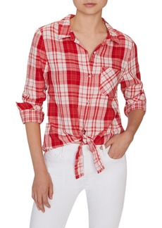 Sanctuary Hayley Tie Front Blouse (Regular & Petite)