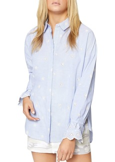 Sanctuary Hazel Eyelet Pinstripe Boy Shirt