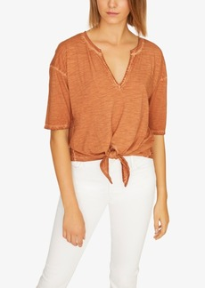Sanctuary Helene Tie Peasant Top