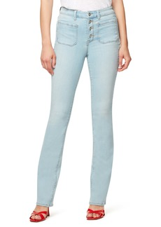Sanctuary High Waist Demi Bootcut Jeans (Whitewater)