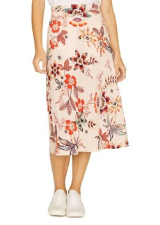 Sanctuary High-Waist Floral-Print Midi Skirt