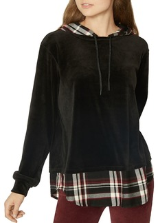 Sanctuary Highland Velour Layered-Look Hoodie