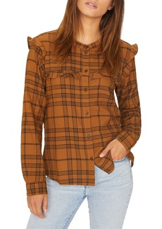 Sanctuary Hill St. Ruffled Plaid Shirt (Regular & Petite)