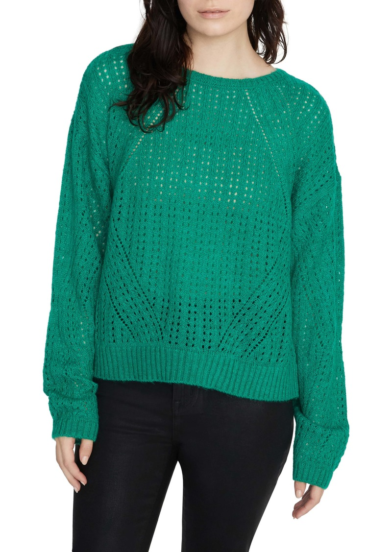 Sanctuary Hole in One Pointelle Sweater