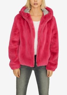 Sanctuary Hooded Faux-Fur Jacket