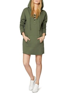 Sanctuary Hooded Lace Up Sweater Dress