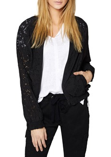 Sanctuary In Bloom Eyelet Bomber Jacket