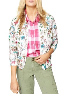 Sanctuary In Bloom Smocked Bomber Jacket