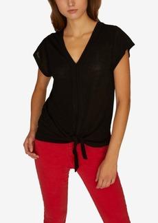 Sanctuary Ingrid Tie Front T-Shirt