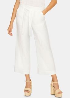 Sanctuary Inland Linen Solid Crop Capri Pants