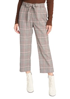 Sanctuary Inland Sash Plaid Capri Pants