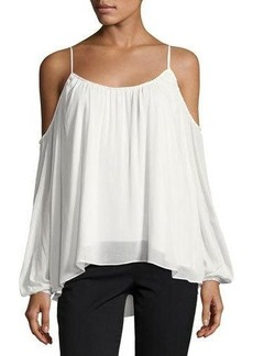 Sanctuary Isabelle Twist-Trim Cold-Shoulder Blouse