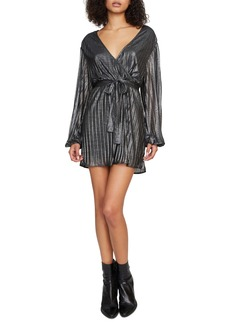 Sanctuary It's Party Time Tie Waist Faux Wrap Minidress