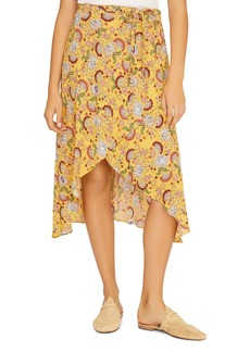 Sanctuary Jamie Floral-Print Faux-Wrap Skirt