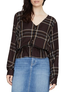 Sanctuary Jasper Plaid Peplum Blouse (Regular & Petite)