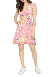 Sanctuary Johanna Sleeveless Floral-Print Wrap Dress