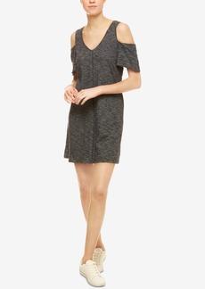 Sanctuary Jolene Cotton Cold-Shoulder Dress