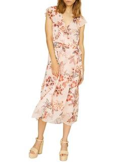 Sanctuary Jolynn Wrap Midi A-Line Dress