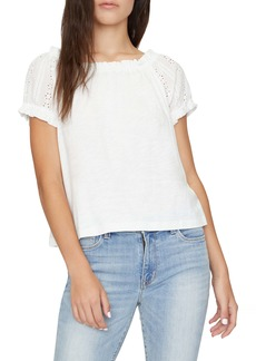 Sanctuary Julia Eyelet Sleeve Top