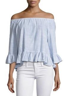 Sanctuary Julia Off-the-Shoulder Cotton Blouse