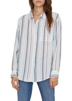 Sanctuary Keepers Stripe Boyfriend Shirt (Regular & Petite)